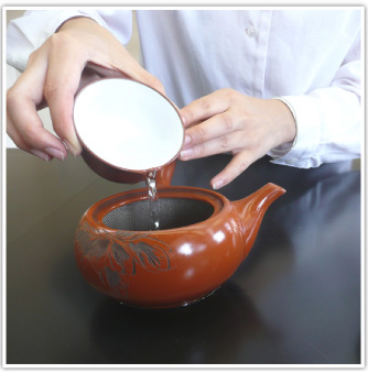 Hot water for japanese green tea