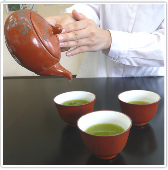 Use til last drip for green tea