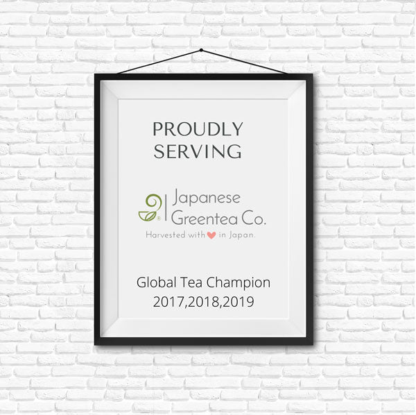 Proudly Serving Japanese Green Tea