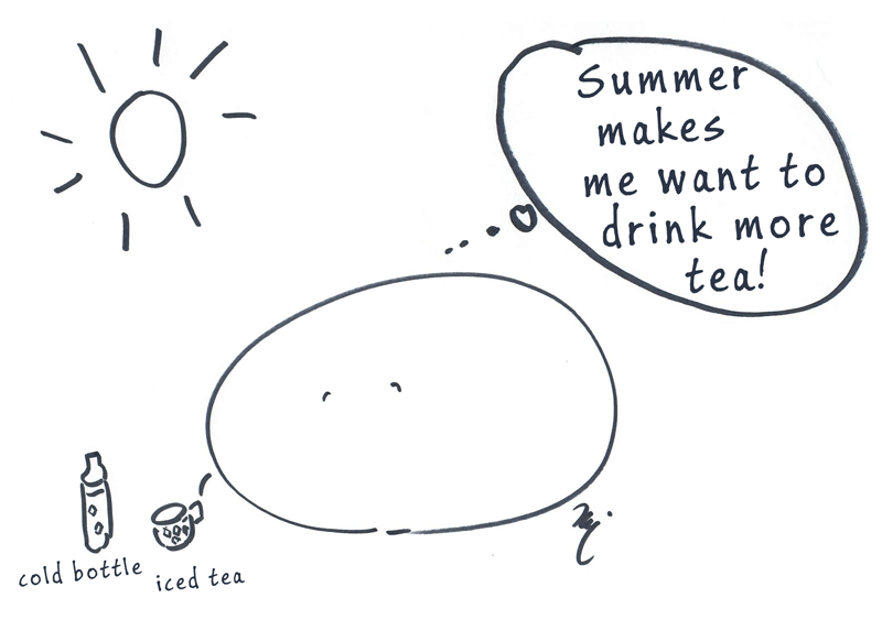 Summer makes me want to drink more tea!