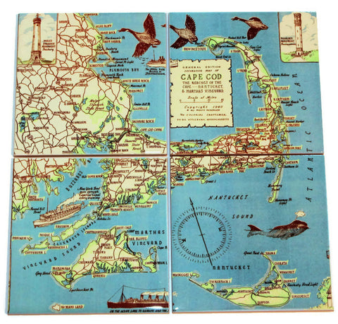 Cape Cod Map Coasters