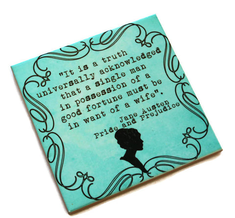 Jane Austen Quotes Coasters