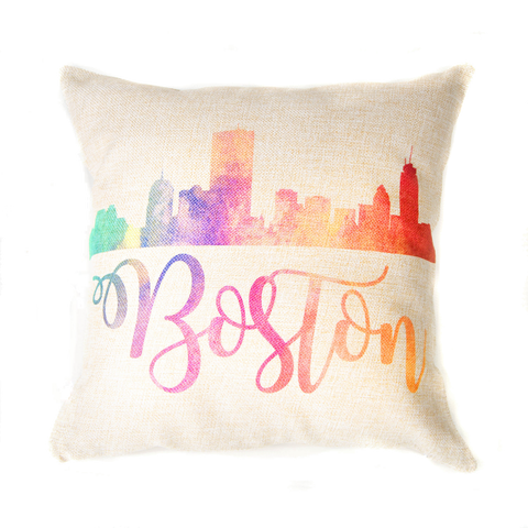 Custom City Skyline Decorative Pillows_Throw Pillow Home Decor and Gift