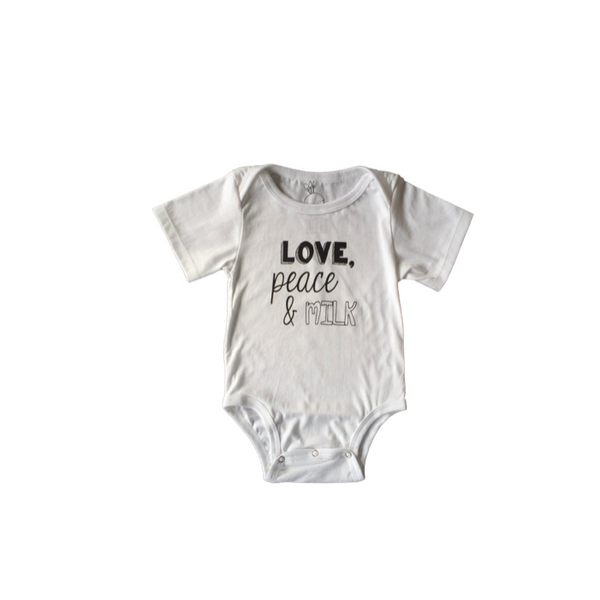Baby Suit Peace & Milk White