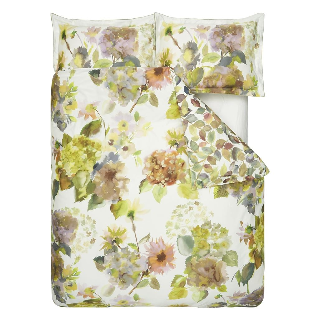 Palace Flower Birch Queen Duvet Cover