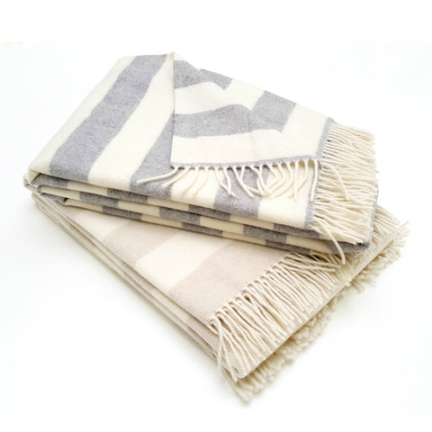 COBI - 2 Stripe Wool/Cashmere - Throw Stack