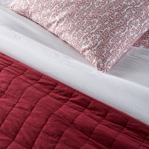 4 Square Quilt - Berry