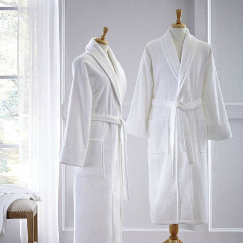 Sferra Fairfield White Bath Robe