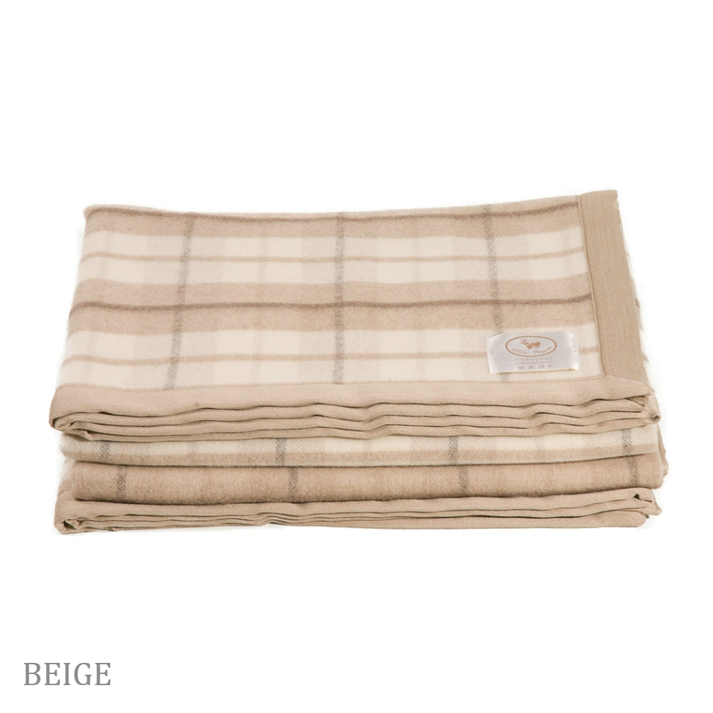 COBI - Alice Plaid Blanket - Beige