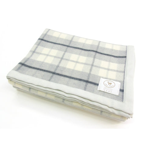 COBI - Alice Plaid Blanket - Grey