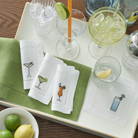 Sferra - Bevande Embroidered Cocktail Napkins