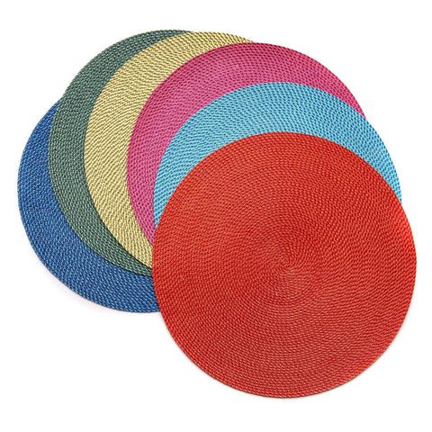 Bright Basketweave Placemats - Set of 6