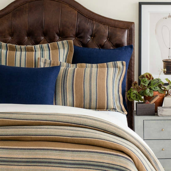 Pine Cone Hill - Striped Blankets - Blue Heron