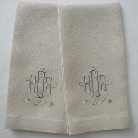 Cameron Monogram Guest Towels