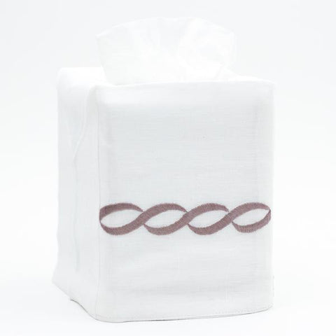 Greenwich Chain Linen Tissue Box Cover