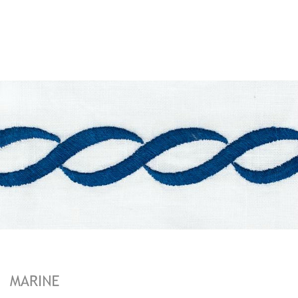 Greenwich Chain Guest Towel - Marine Swatch