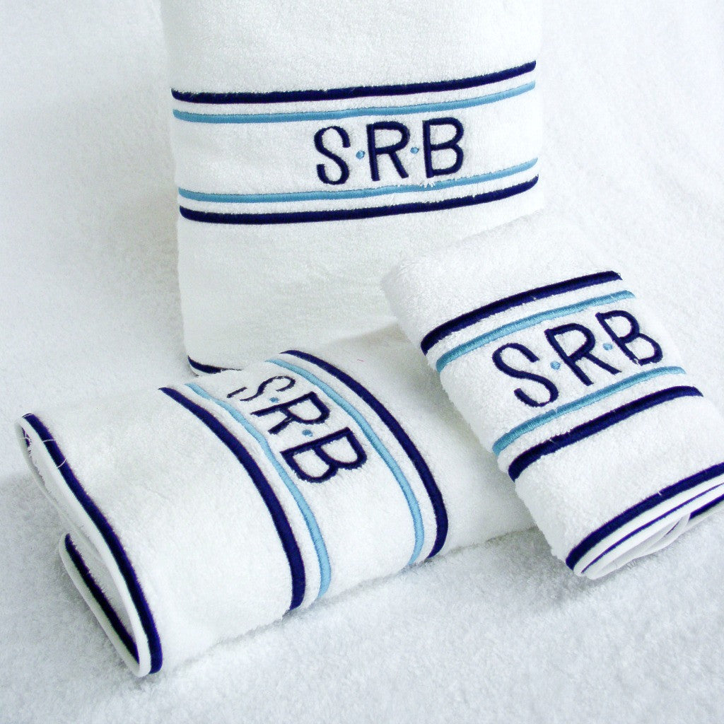 Hamburg House Club Stripes Towel Set Blue/Navy