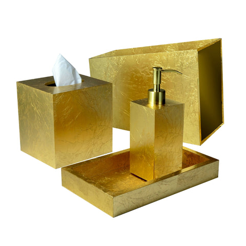 Mike & Ally - EOS Gold Leaf Bath Accessories