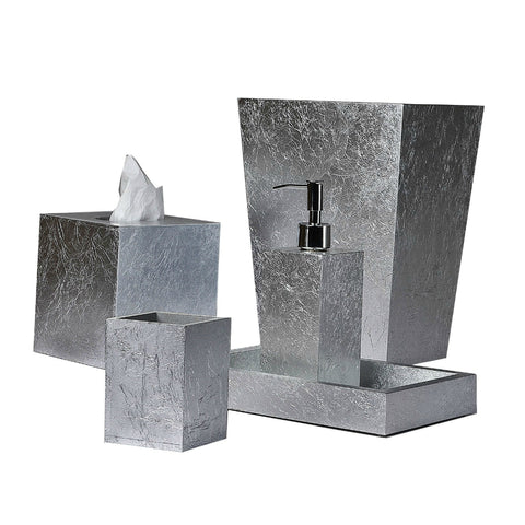 Mike & Ally - EOS Silver Leaf Bath Accessories