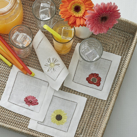 Sferra - Fiori Embroidered Cocktail Napkins