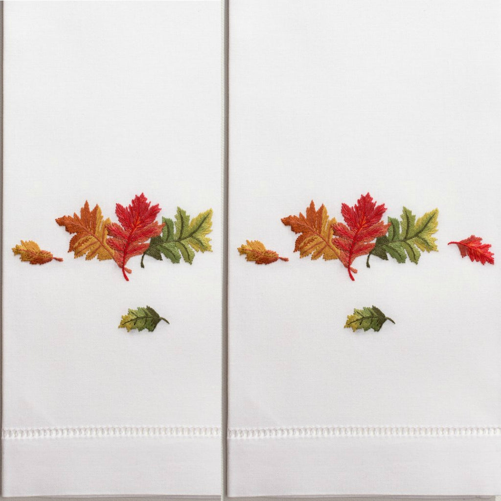 Henry Handwork - Fall Leaves Guest Towels