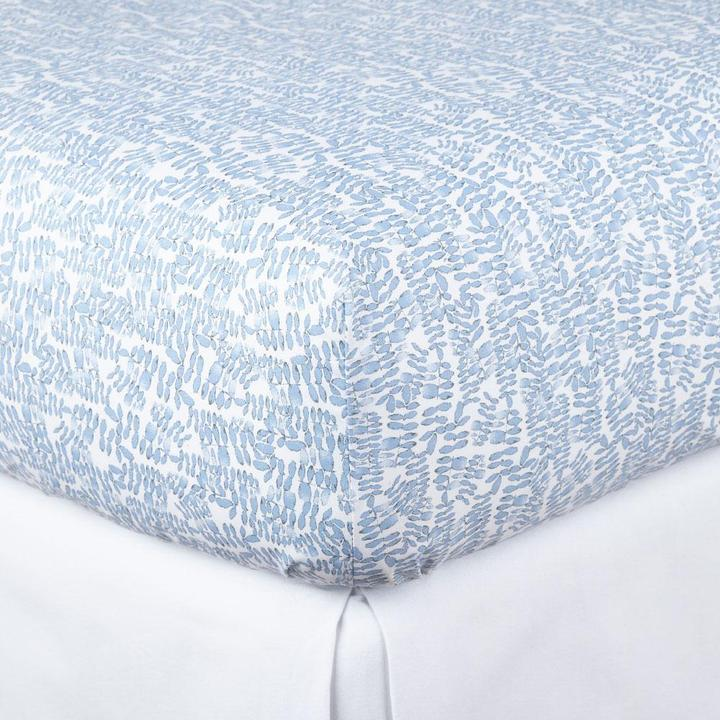 Fern Denim Fitted Sheet