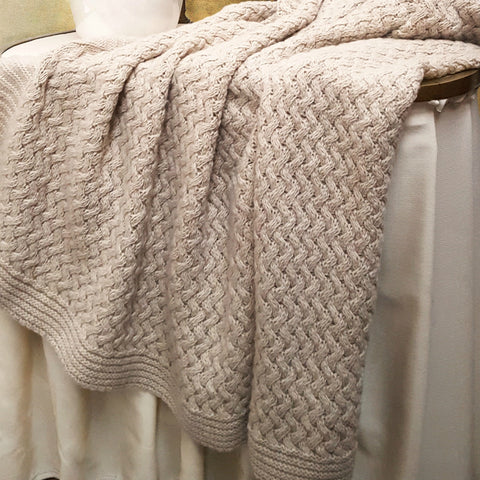 COBI - Florence Knit Throw - Beige