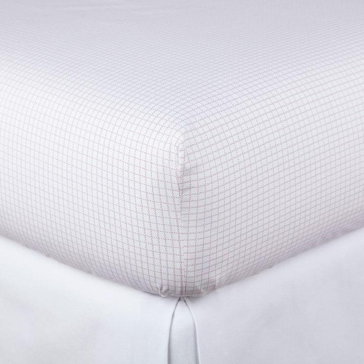 Grid Fitted Sheet - Berry