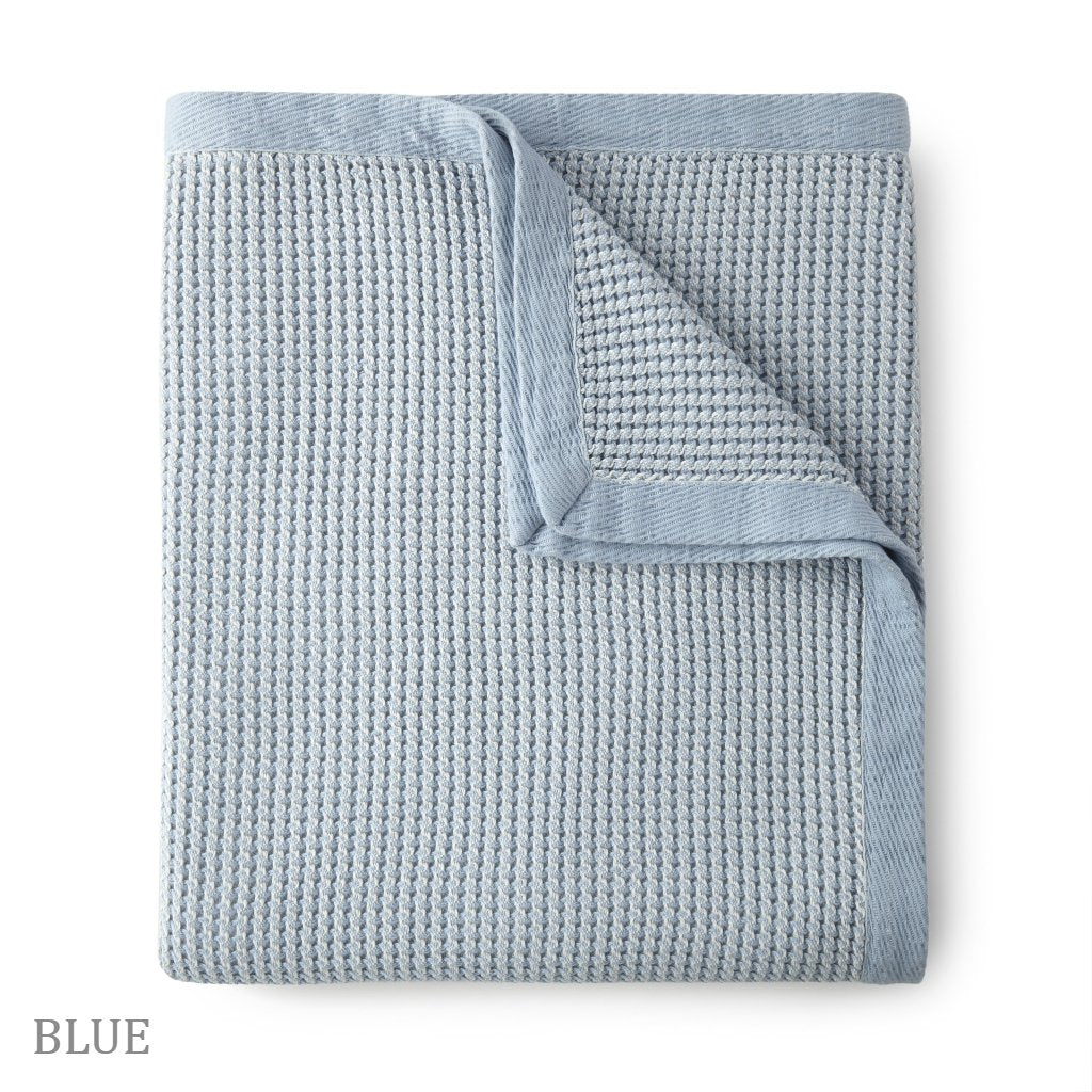 Peacock Alley - Hudson Blanket Blue