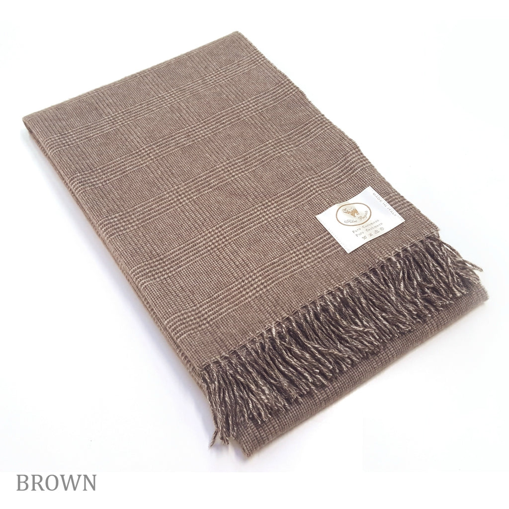 COBI - Kate Plaid Throw - Brown