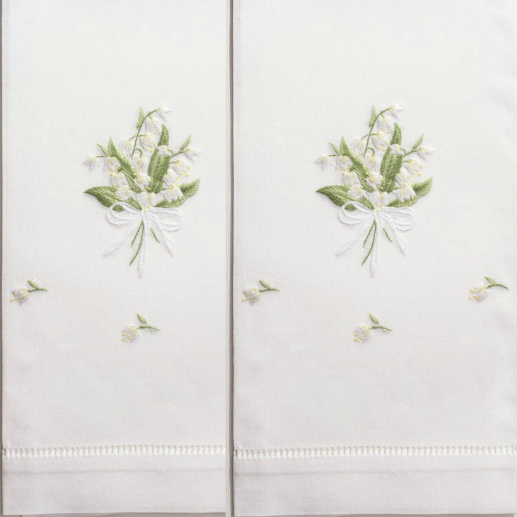 Henry Handwork - Lily of the Valley Guest Towel Set