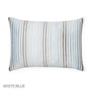 Lineare Decorative Pillow - White/Blue