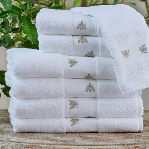 TL at Home - Mel Bee Guest Towels - Taupe Stack