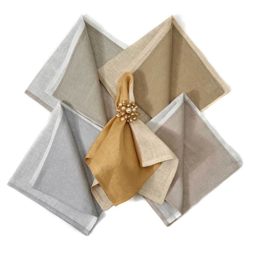 Deborah Rhodes - Metallic Two-Tone Napkins