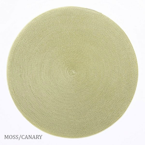 Linen Braid Placemats - Moss/Canary