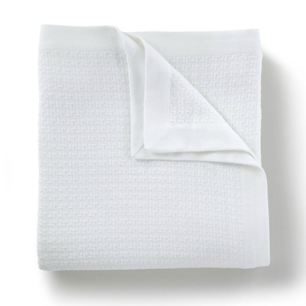 Peacock Alley - Newport Blanket White