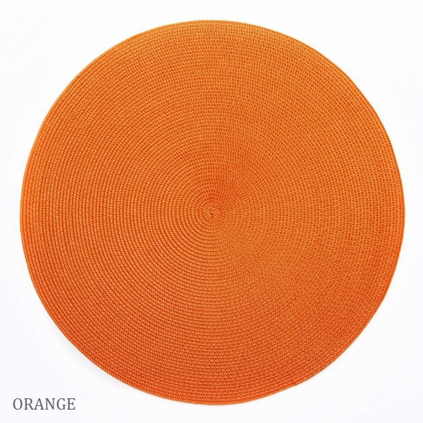 Linen Braid Placemats - Our Favorite Oranges