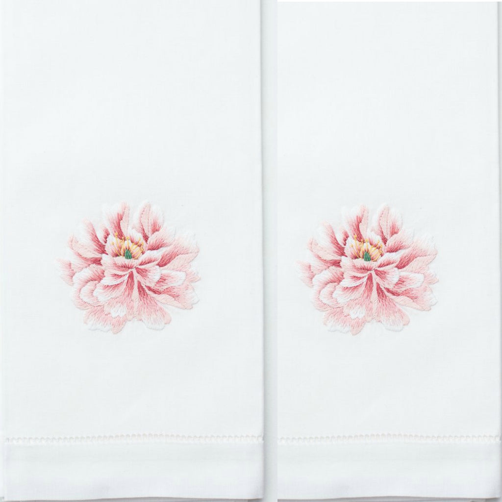 Peony Cotton Guest Towels (Set of 4)