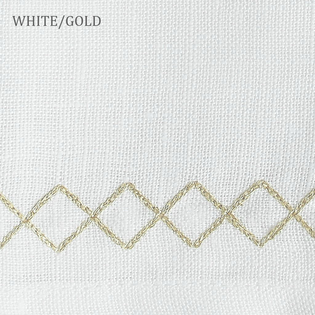 Sferra Perry White/Gold Swatch
