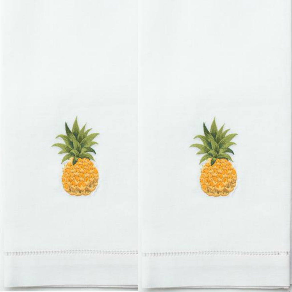 Pineapple Modern Cotton Guest Towels (Set of 2)