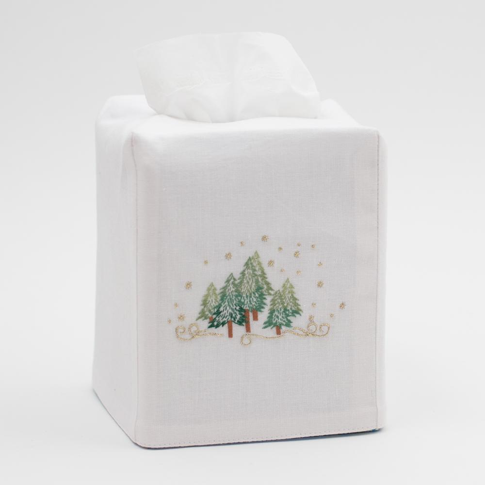 Henry Handwork - Pine Trees Tissue Box