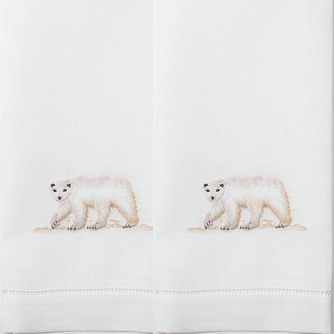 Polar Bear Cotton Guest Towels