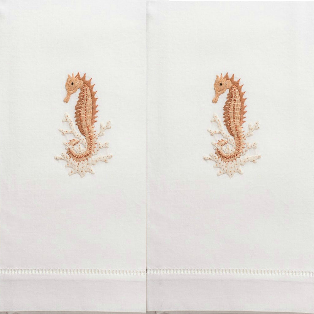 Henry Handwork - Seahorse Natural Guest Towels