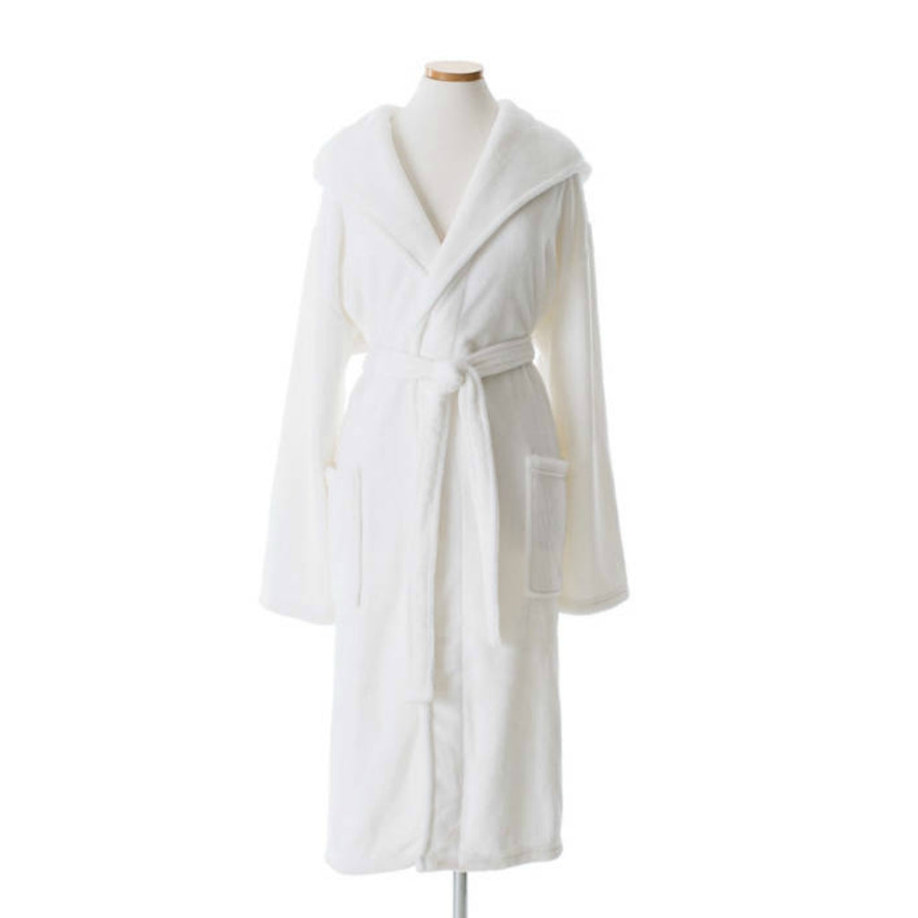 PINE CONE HILL - Selke Fleece Hooded Robe - Lynnens, Fine Linens