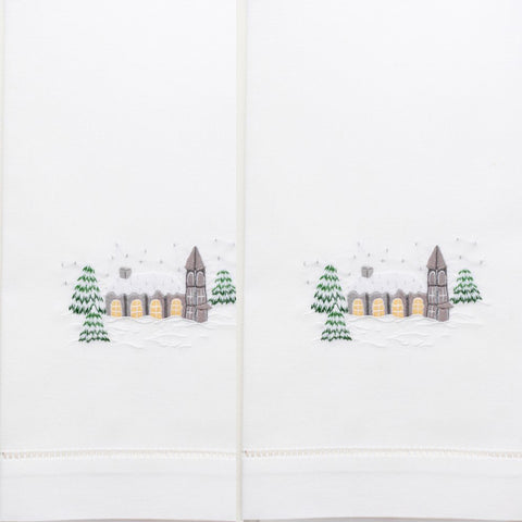 Snowy Chapel Cotton Guest Towels