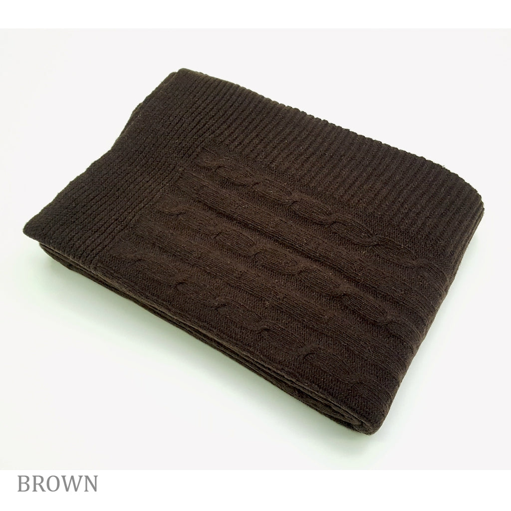 COBI - Florence Knit Throw - Brown