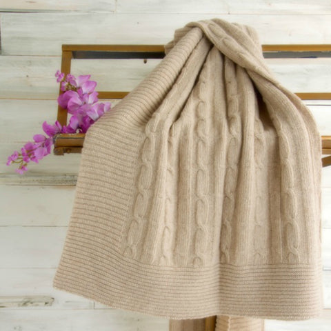 COBI - Florence Knit Throw - Turtle Dove