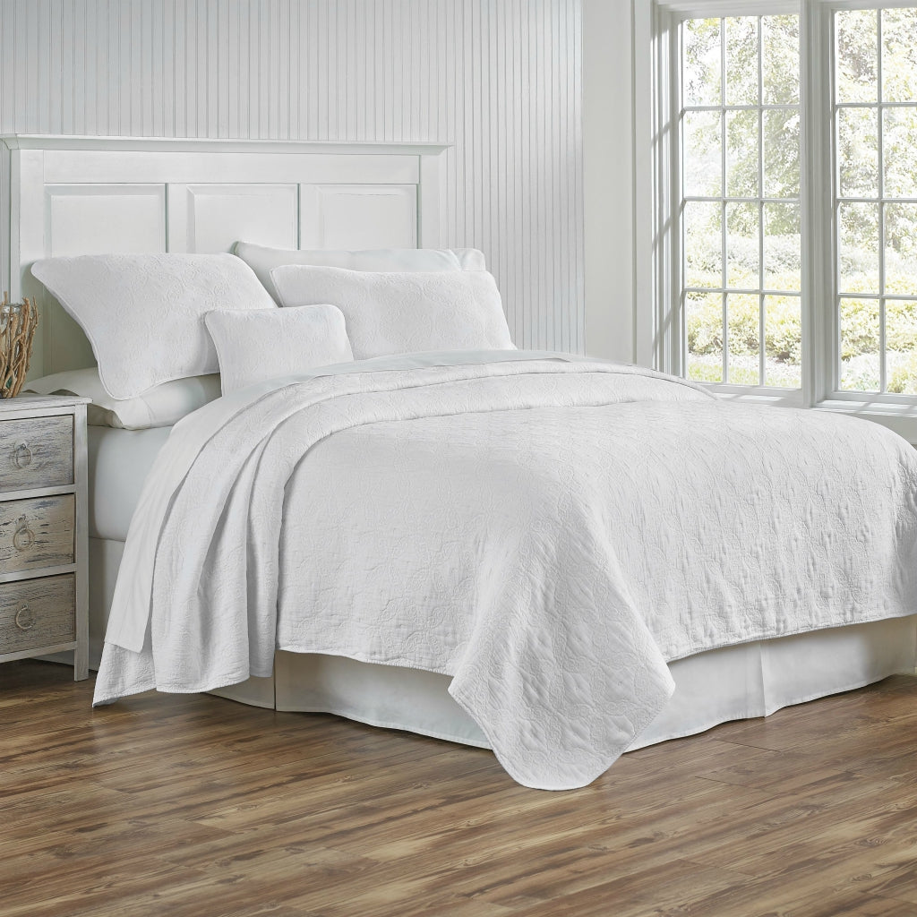 Whitney Coverlet and Shams White