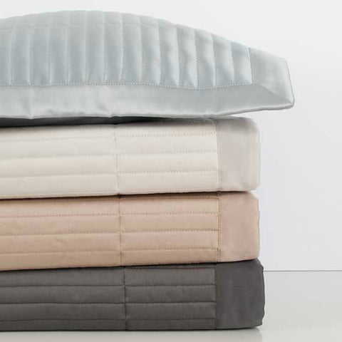 Channel Quilted Coverlets Stack