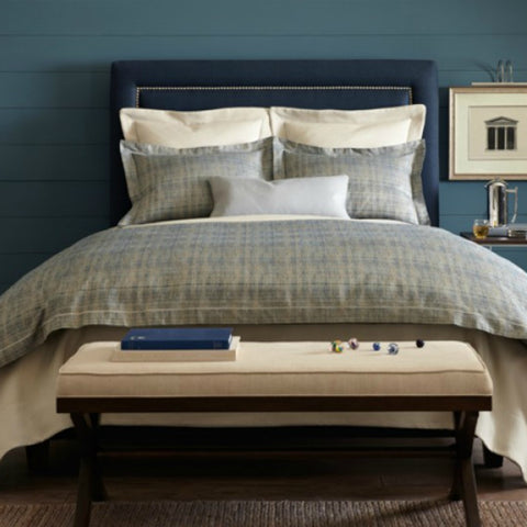 Peacock Alley Biagio Blue Duvet Cover and Shams